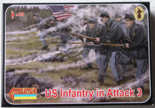 Strelets 1/72 ST0179 Union Infantry in Attack 3 (ACW)